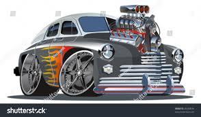 Old Ford Truck Vector - vector retro cartoon hotrod engine full stock vector 20250634