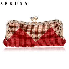 bridesmaids bags aliexpress buy sekuswomen clutch bags beaded evening bags