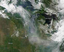 Canada Wildfire App image smoke from canadian wildfires drifts down to us