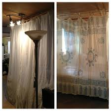 turned 3 crinkle curtains u0026 2 scarfs from world market into an