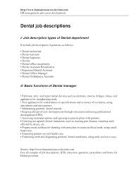 Dental Assistant Description For Resume Cover Letter Orthodontist Resume Orthodontist Resume Sample