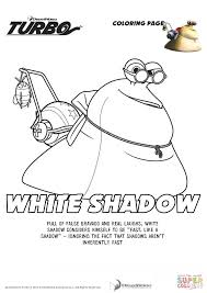 white shadow turbo coloring free printable coloring pages