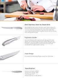 kitchen knives that never need sharpening serrated steak knives set of 6 stainless steel