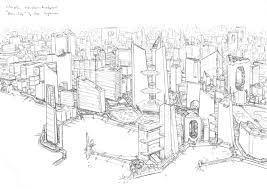 neon city sketch by penuser sci fi city pinterest neon