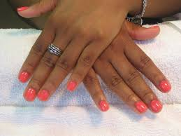 nail shellac short nail designs