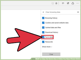 Windows Search Box - 6 ways to clear the search box of sites you have viewed online
