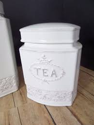 thl canisters french country chic cottage farmhouse soft white