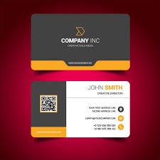 Pinterest Business Card Ideas Business Card Design Free Vector Business Card Design