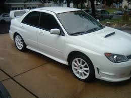 white subaru black rims pic request white sti w white bbs wheels page 2 subaru