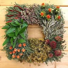 herb wreath square segmented herb wreath creekside farms