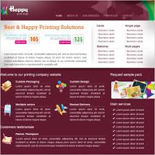 happy print shop template free website templates in css html js