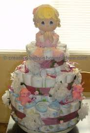 Precious Moments Baby Shower Decorations Diaper Cake How To Pictures