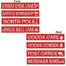 Christmas Cutout Decorations North Pole Sign Decoration North Pole Street Signs Die Cut
