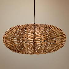 Wicker Pendant Light Interesting Wicker Pendant Light Antigua Rattan Flat Pendant