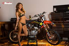 transworld motocross pin up jessica vargas at the rockstar energy racing ktm garage