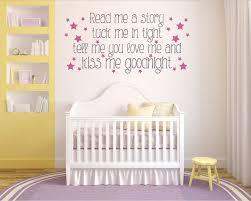 read me a story tuck me in tight nursery wall art vinyl decal