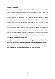 Steve Jobs Resume Pdf by Case Study About Steve Jobs