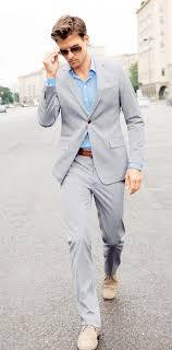 what color shirt with light grey suit men s grey suit light blue long sleeve shirt beige suede desert