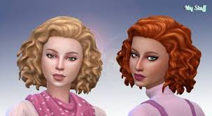 the sims 4 natural curly hair medium mid curly hair at my stuff sims 4 updates