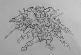 teenage mutant ninja turtles pencil practice 1 by thomasscantenii