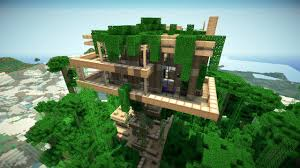 minecraft jungle treehouse blueprintsjungle treehouse by keralis