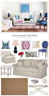 copy cat chic room redo preppy feminine living room copycatchic