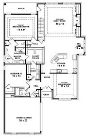 bedroom house plans story four plan single 4 best charvoo