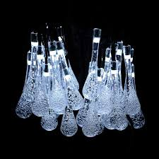 Solar Powered Icicle Lights by Aliexpress Com Buy Zinuo 6m Solar Christmas Lights Waterdrop Led