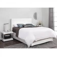 White Tufted Headboard And Footboard White Modern Bed With Tufted Headboard King Size Outstanding