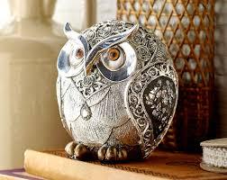 silver owl 11 00 silver owl ornament with swirl design