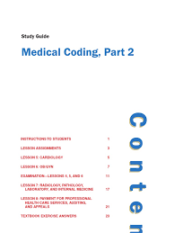 medical coding 1 1 study guide 1 international statistical