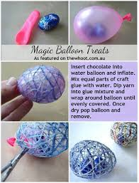 easter eggs surprises easter egg put candy in water balloon and wrap with glue