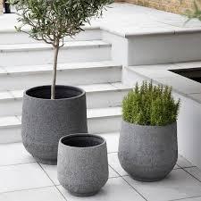 large polyresin planters grey planter design vintage