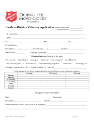 Army Fax Cover Sheet by Salvation Army Volunteer Application Form 2 Free Templates In