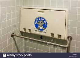 Folding Changing Tables Folding Baby Changing Table In Restroom Usa Stock Photo