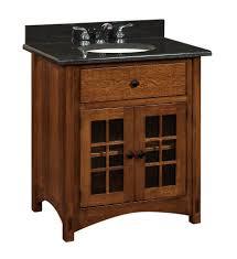 amish bathroom vanity cabinets amish bathroom vanity solid wood 33 lucern mission sink console