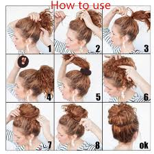 elastic hair band hairstyles online shop new plate hair donut bun maker magic foam sponge hair