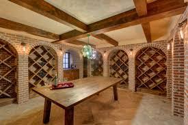 basement stunning trap door wine cellar with brick walls and