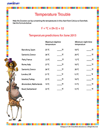 temperature trouble u2013 printable conversion worksheet for 6th grade