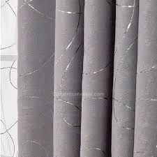 Blackout Curtains Gray Gray Suede Thick Fabric Insulated And Privacy Blackout Curtain