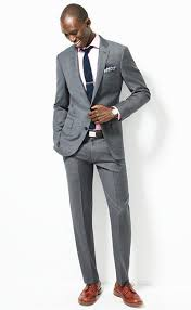 light gray suit brown shoes jcrew the ludlow suit jacket with double vent in italian worsted