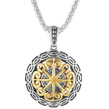 sterling gold necklace images Keith jack compass necklace in sterling silver and 10kt yellow gold jpg