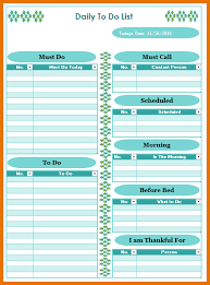 7 free to do list template itinerary template sample