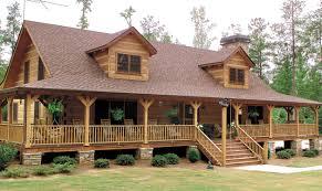 Log Cabin Plans With Wrap Around Porch Log Home Exteriors