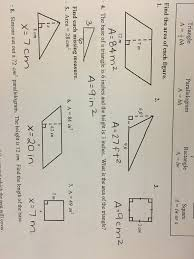 Area Of A Parallelogram Worksheet Math 7 Ms Hughes Room