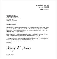 how to write a acceptance letter sle 100 images acceptance