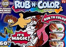 amazon com rub n color large activity kit by color loco toys u0026 games