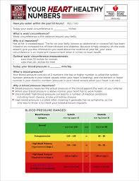 dr oz u0027s heart health worksheet the dr oz show