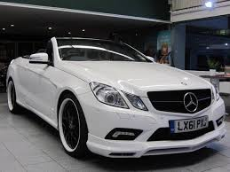 white mercedes convertible used mercedes 2011 white colour petrol class e500 sport 2