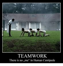 Team Work Meme - teamwork there is no me in human centipede human meme on me me